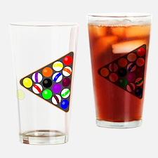 Eight Ball Rack Drinking Glass