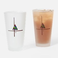 Billiards Cues And Triangle Drinking Glass
