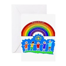 Rainbow Principles Kids Greeting Cards (Package of