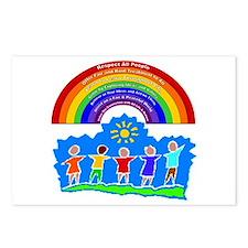 Rainbow Principles Kids Postcards (Package of 8)