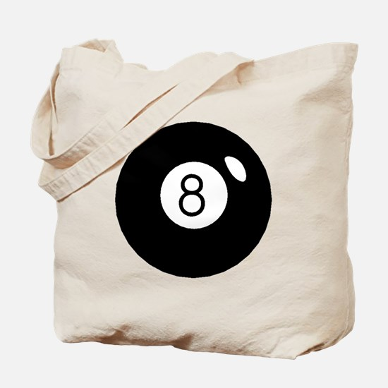 Black Eight Ball Tote Bag