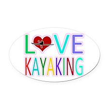 Love Kayaking Oval Car Magnet