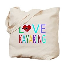 Love Kayaking Tote Bag