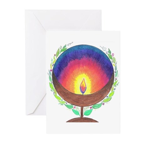 Rainbow Flame Greeting Cards (Pk of 10)