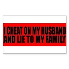 Cute Cheating husband Decal