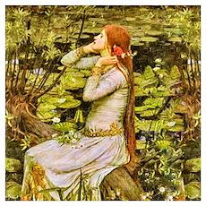 Waterhouse: Ophelia (1894) Wall Art Poster