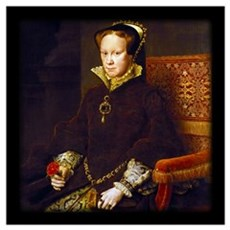 Queen Mary I. Wall Art Poster