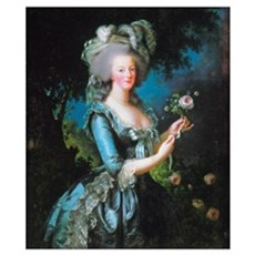 Marie Antoinette with Rose Wall Art Poster