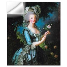 Marie Antoinette with Rose Wall Art Wall Decal