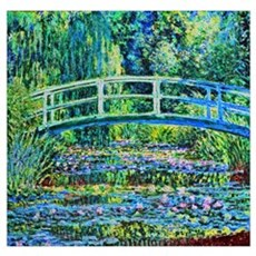 Monet - Water Lily Pond Wall Art Poster