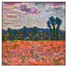 Monet - Poppy Field Wall Art Framed Print
