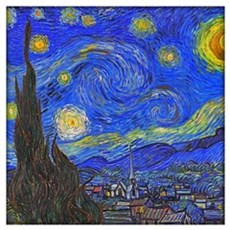 Van Gogh: The Starry Night Wall Art Framed Print