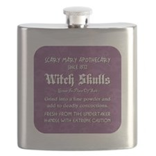 WITCH SKULLS Flask