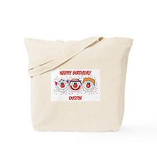 Happy Birthday DUSTIN (clowns Tote Bag