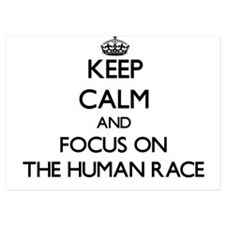 Keep Calm by focusing on The Human Rac Invitations