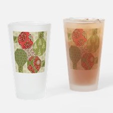 Christmas Quilt Pattern Drinking Glass