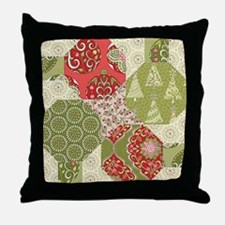 Christmas Quilt Pattern Throw Pillow