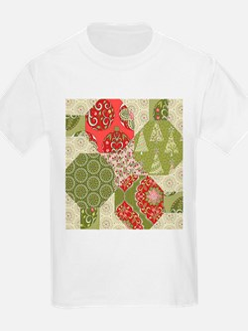 Christmas Quilt Pattern T-Shirt