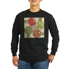 Christmas Quilt Pattern Long Sleeve T-Shirt
