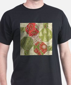 Christmas Quilt Pattern T-Shirt