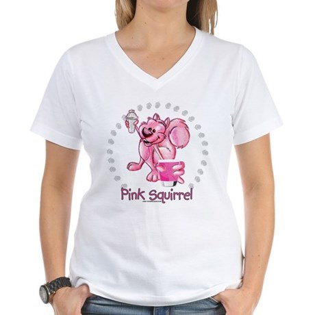 Pink Squirrel Women's V-Neck T-Shirt