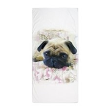 Pug.JPG Beach Towel