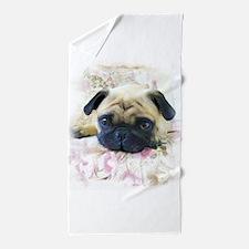 Pug.JPG Beach Towel