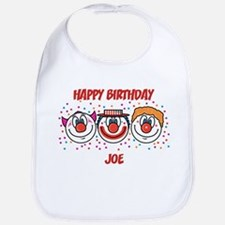 Happy Birthday JOE (clowns) Bib