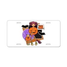 Happy Haunting.png Aluminum License Plate
