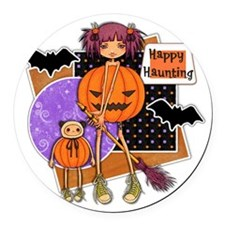 Happy Haunting.png Round Car Magnet