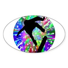 Skateboard Flip Out in Fireworks Decal