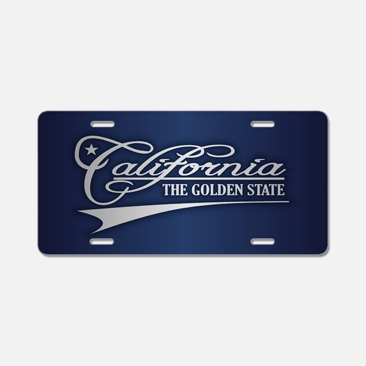 California State of Mine Aluminum License Plate