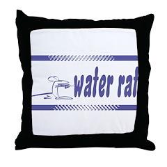 Water Rat Waterskiing Throw Pillow