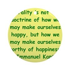 kant111.png Ornament (Round)
