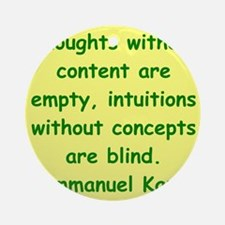 kant114.png Ornament (Round)