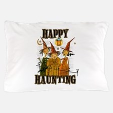 Happy Haunting 3 Witches Pillow Case