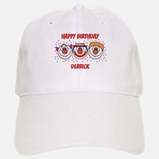 Happy Birthday DERRICK (clown Baseball Baseball Cap