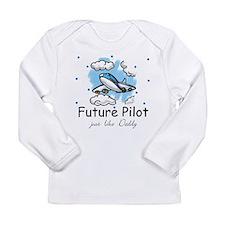 Cute Baby pilot Long Sleeve Infant T-Shirt