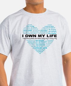 I Own My Life_blue Heart T-Shirt