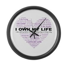 Unique Affirmation Large Wall Clock