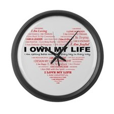 Cute Affirmation Large Wall Clock