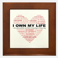 Unique Affirmation Framed Tile