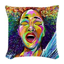 SINGING SERIES Woven Throw Pillow