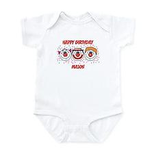 Happy Birthday MASON (clowns) Infant Bodysuit