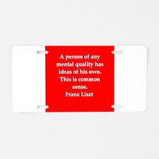 liszt`.png Aluminum License Plate