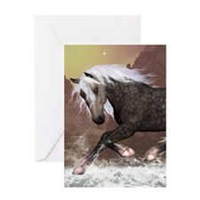 Brown horse Greeting Cards