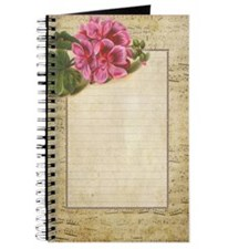 Lined Music Paper with Flower Journal