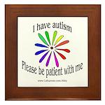 Autism Patience Framed Tile