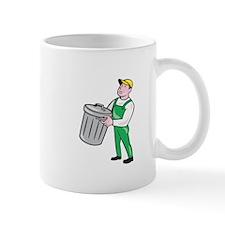 Garbage Collector Carrying Bin Cartoon Mugs