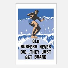 Old Surfers Never Die Postcards (Package of 8)